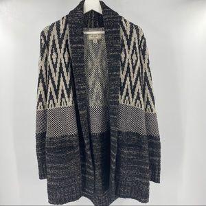 Lucky Brand boho wool/cotton blend cardigan
